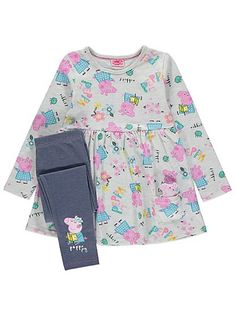 Peppa Pig 2 Piece Outfit with Toy, read reviews and buy online at George at ASDA. Shop from our latest range in Kids. Your little one will be ready for a day...