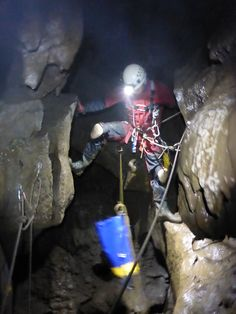 The delights of our intermediate caving courses. #caving #cavingcourse #trycaving
