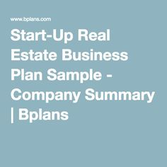 Reit business plan