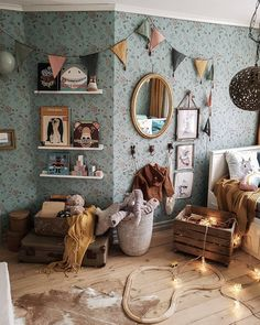 Likes, 69 Comments - Nordic ➳ Rustic ➳ Bohemian ( . - Likes, 69 Comments – Nordic ➳ Rustic ➳ Bohemian ( … – # Check more at - Cute Dorm Rooms, Cool Rooms, Room Ideias, Nursery Decor, Room Decor, Deco Kids, Kids Decor, Decor Ideas, Kid Spaces