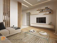 Фото: Зона гостиной - Интерьер дома в современном стиле, коттеджный поселок «Небо», 272 кв.м.