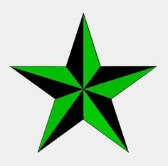 Green nautical star