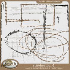 Stitches No. 6 by K Studio, http://www.kstudiofix.com #digitalscrapbooking #digiscrap #scrapbooking #kstudio