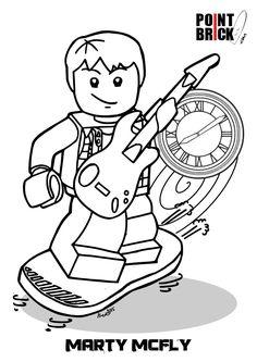 Disegni da colorare - LEGO Dimensions - Marty McFly - Back to the Future - Clicca sull'immagine per scaricarla gratuitamente! Lego Coloring Pages, Farm Animal Coloring Pages, Free Coloring Sheets, Coloring Pages For Kids, Lego Dimensions Ps4, Fun Trivia Questions, Marty Mcfly, Family Movie Night, Lego Movie