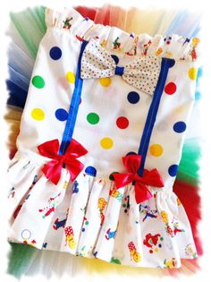 HALLOWEEN girl carnival circus clown costume sz 47 by TUTUCUTS, $52.00