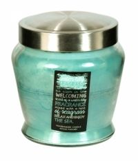 SIL LAYERED BLUE SCENTED CANDLE IN GLASS POT WATER LILY SEAGRASS Scented Candles, Health And Beauty, Household, Fragrance, Lily, Glass, Water, Blue, Gripe Water