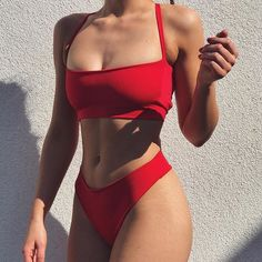 New Sexy Brazilian Bikini 2018 Swimwear Women Swimsuit Bathing Suit Biquini Bikini Set Bandage Swim Suit Maillot De Bain Femme - AzZBikinis Trendy Bikinis, Cute Bikinis, Cute Swimsuits, Women Swimsuits, Summer Bikinis, Swimsuit With Shorts, Pink Swimsuit, Bikini Modells, Pink Bikini