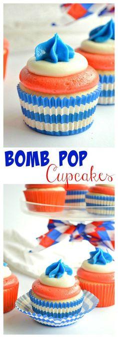 Bomb Pop Cupcakes -