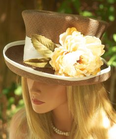 Love this one.   kentucky derby hats 2013   Brown Straw Summer Hat. Kentucky Derby Hat. Spring 2013 Collection