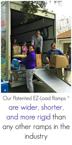 Our Patented EZ-Load Ramps are wider, short, and more rigid than any other ramps in the industry. #MovingTrucks