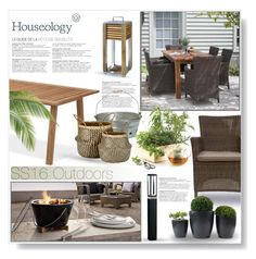 """Contest Entry: Houseology SS16 Outdoors"" by desert-belle ❤ liked on Polyvore featuring interior, interiors, interior design, home, home decor, interior decorating, Garden Trading, Ethimo, Hostess and Murmur"