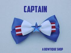 captain hair bow by abowtiqueshop on Etsy, $6.50