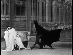"Marfa Koutiloff (Stacia Napierkowska) dancing as a vampire bat in 'The Ring That Kills' - the second episode of ""Les Vampires."" 1915 - 1916."