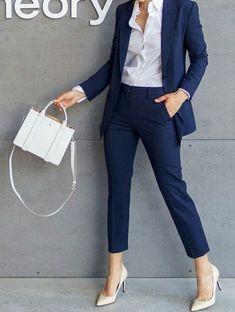 Suits & Sets Rapture Ladies Pant Suits Women Business Formal Office Suits Work Wear Custom Made Royal Blue Elegant Ol Style Uniform Pantsuits