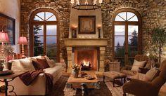 Beautiful wall!  Eldorado Stone - Imagine - Inspiration Gallery - Residential - Fireplaces