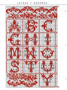 Cross-stitch Alphabets with Scrollwork, part 1... color chart on part 2..    Gallery.ru / Фото #81 - Алфавиты - livadika
