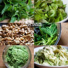 Pesto z kopřiv Pesto, Korn, Chutney, Lettuce, Sprouts, Spinach, Cabbage, Food And Drink, Vegan