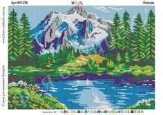 Adult Color By Number, Cross Stitch Landscape, Stitch 2, C2c, Perler Beads, Cross Stitching, Adult Coloring, Cross Stitch Patterns, Lily