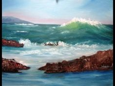 "▶ February 20, 2013 Oil Painting - ""Big Wave Coming"" Full Version for Class - YouTube"