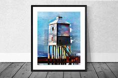 Lighthouse Art Print Seaside Art Print Lighthouse Burnham