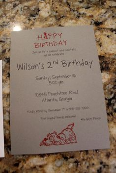 Custom Hand Embossed Party Invitations from Crafty Little Piggie!