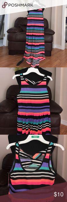 Girls Gorgeous Vibrant Maci Hi Lo Dress Beautiful and bright hi lo maxi dress with pretty modified keyhole back. NWT Circo Dresses Casual