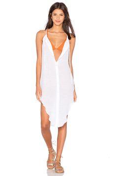 Salt Swimwear Pearl Dress Cover Up in White