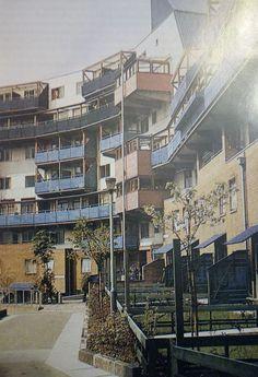 Ralph Erskine, fragment osiedla mieszkaniowego Byker w Newcastle, 1968-1974