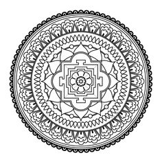 printable detailed mandala coloring pages | Printable Detailed Mandala Coloring Pages | FIVE Mandala Colouring ...