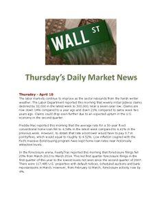 4-10-14 Todays Market News www.equitysourcemortgage.com