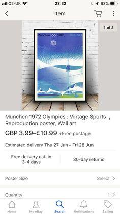 1972 Olympics, Ebay Search, Wall Art, Room, Poster, Bedroom, Rooms, Billboard, Rum