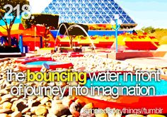 fountain at journey into the imagination...and getting lost every time!