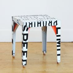 $875.00 !!!!....maybe DIY with Ikea side table and old street sign. Probably would cost about 10 bucks!