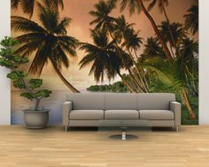 Ha I would love to have this :)  tropical mural wall