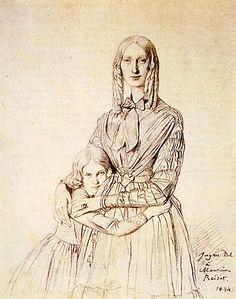 Ingres - Madame Frédérique Reiset et sa fille Thérèse Hortense Marie.