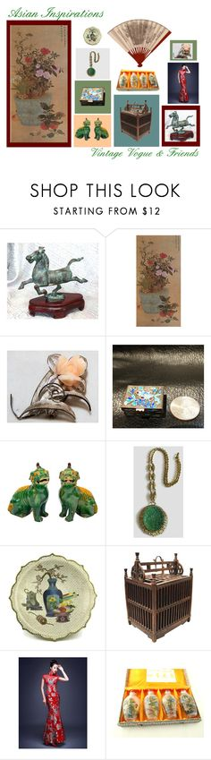 """""""Asian Inspirations Vintage Vogue & Friends"""" by anna-ragland ❤ liked on Polyvore featuring vintage"""