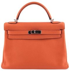 091aab15e6 GB1031345 Authentic Hermes Kelly 28 Togo Orange Shoulder Bag This chic Kelly  handbag is crafted of. Tradesy