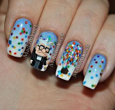 UP...movie inspired nail art. wow