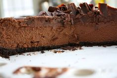 Dark Chocolate MousseCake - Blue-Eyed Bakers - Blue Eyed Bakers