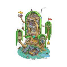 いいね!2,682件、コメント16件 ― |(• ◡•)| ADVENTURE TIME (❍ᴥ❍ʋ)さん(@adventuretime.ooo)のInstagramアカウント: 「My dream home 🌲 by Max Degtyarev on Behance.net」
