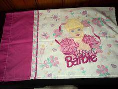 1995 Barbie Doll Mattel Doll Pillowcase Standard Size Child Character Bed Linen