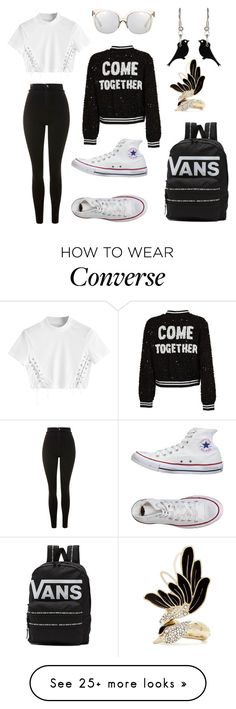 """""""Untitled #85"""" by ioana423456 on Polyvore featuring Topshop, Converse, Vans, Alice + Olivia, Linda Farrow and Lanvin"""