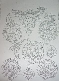 hatai Embroidery Works, Embroidery Patterns, Pattern Drawing, Pattern Art, William Morris Art, Persian Motifs, Islamic Patterns, Iranian Art, Turkish Art