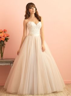 Allure Romance Wedding Dresses - Search our photo gallery for pictures of wedding dresses by Allure Romance. Find the perfect dress with recent Allure Romance photos - Page Allure Romance, Bridal Dresses, Bridesmaid Dresses, Wedding Gowns Online, Wedding Dress Pictures, May Weddings, Bridal And Formal, Bridal Boutique, Bridal Style