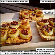 peanut butter and caramelised banana toast