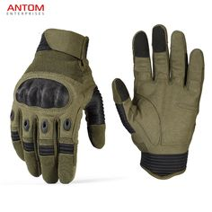 RapDom Soft Shell Olive Drab Winter Gloves w//Touch Screen Device Tips S-2XL