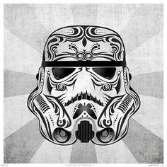 Dia de Los Muerto Star Wars by John Karpinsky                                                                                                                                                                                 Mais