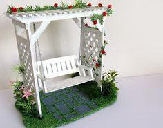 DIY: Balanço de Jardim Miniatura - Artesanato Palitos Picolé