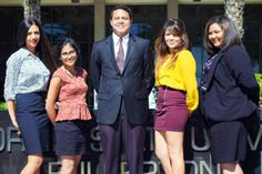 Congrats to Kelsey Brewer (far right), member of the Alumni Association's Student Alumni Ambassadors on being one amongst four other CSUF students seclected in the Up to Us nationwide competition!