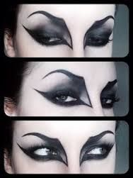Image result for dramatic halloween eye makeup